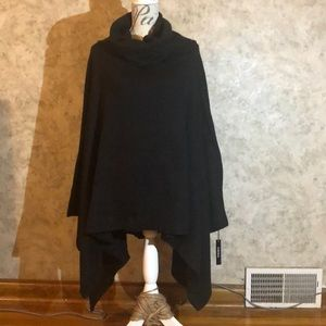Vertigo* Woman's Cowl Neck Knitted Cape